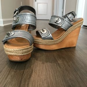 Coach Marian Platform Wedge Sandals